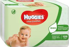 Huggies Ultra Comfort Алоэ салфетки влажные детские