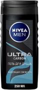 Нивея Men Ultra Carbon Бодрящая Свежесть гель для душа