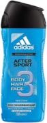 Адидас After Sport Протеин гель для душа, шампунь + гель для умывания мужской 3 в 1