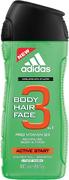 Адидас Active Start Провитамин В5 гель для душа, шампунь + гель для умывания мужской 3 в 1