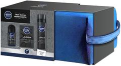 Нивея Men Ultra набор (пена для бритья+лосьон после бритья+антиперспирант)