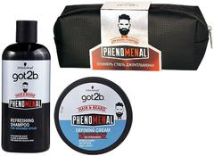 Got2b Phenomenal набор для волос и бороды (шампунь + крем + косметичка)