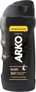 Арко Men Black Глубокое Очищение гель для душа + шампунь 2 в 1 с активированным углем