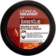Лореаль Men Expert Barber Club Beard & Hair Styling Cream крем-стайлинг для бороды и волос
