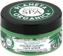 Планета Органика Royal Spa Golden Tanaka скраб для лица мягкий очищающий