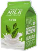 Apieu Green Tea Milk One-Pack маска для лица с экстрактом зеленого чая и гамамелиса