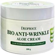 Deoproce Bio Anti Wrinkle Aloe Cream Whitening био крем на основе сока алоэ