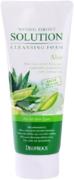 Deoproce Natural Perfect Solution Cleansing Foam Aloe пенка для умывания с экстрактом алоэ