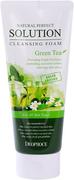 Deoproce Natural Perfect Solution Cleansing Foam Green Tea пенка для умывания с экстрактом зеленого чая