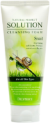 Deoproce Natural Perfect Solution Cleansing Foam Snail пенка для умывания с муцином улитки