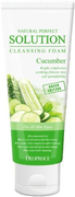 Deoproce Natural Perfect Solution Cleansing Foam Cucumber пенка для умывания с экстрактом свежего огурца
