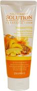 Deoproce Natural Perfect Solution Cleansing Foam Moisturizing пенка для умывания на основе йогурта и масел