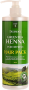 Deoproce Green Tea Henna Pure Refresh Hair Pack маска для волос с хной и зеленым чаем