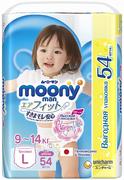 Moony Man подгузники-трусики для девочек с высокой посадкой