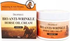 Deoproce Bio Anti-Wrinkle Horse Oil Cream биокрем против морщин с лошадиным жиром