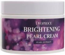 Deoproce Brightening Pearl Cream крем питательный с экстрактом жемчуга