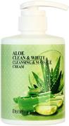 Deoproce Aloe Clean & White Cleansing & Massage Cream крем для тела очищающий массажный с экстрактом алоэ