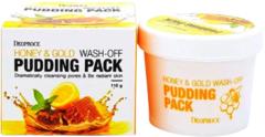 Deoproce Honey & Gold Wash-Off Pudding Pack смываемая маска-пудинг для лица с медом и золотом