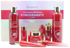 Deoproce Pomegranate 5 Set уходовый антивозрастной набор для лица с экстрактом граната