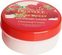 Deoproce Clean & Deep Strawberry Yogurt Cleansing Cream крем для лица очищающий с экстрактом клубники