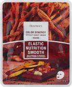 Deoproce Color Synergy Brown Elastic Nutrition Smooth маска тканевая на основе восточных трав и корня женьшеня