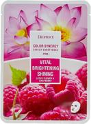 Deoproce Color Synergy Pink Vital Brightening Shining маска тканевая на основе цветов лотоса и малины