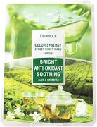 Deoproce Color Synergy Green Bright Anti-Oxidant Soothing маска тканевая на основе экстрактов алоэ и зеленого чая