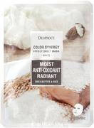 Deoproce Color Synergy White Moist Anti-Oxidant Radiant маска тканевая на основе масла ши и рисовой воды