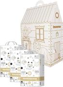 Inseense V6/Кошкин Домик набор (подгузники-трусики + картонный домик+ восковые мелки)