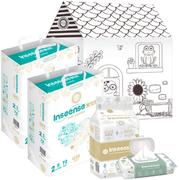 Inseense Q5S/Добрая Сказка/для Малышей/Алоэ набор (подгузники + картонный домик + пеленки + салфетки)