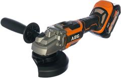 AEG BEWS 18-125BL 502C аккумуляторная угловая шлифмашина