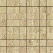 Италон Traventino Travertino Romano Mosaico Lux 610110000079 мозаика (292 мм*292 мм)