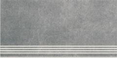 Kerama Marazzi Королевская Дорога Ступень Королевская Дорога Серый Темный Обрезной SG614600R/GR ступень (300 мм*600 мм)
