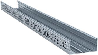 Металлический потолочный пп 60 мм*27 мм*3 м 0.6 мм