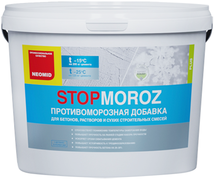 Stopmoroz противоморозная для бетонов, растворов и сухих строительных смесей 1.5 л