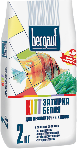 Kitt белая для межплиточных швов 2 кг белая