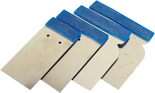 <p>Тип: Набор поверхностных шпателей.</p><p>Назначение: Применяются для нанесения на небольшие поверхности отделочных материалов и для их последующего выравнивания.</p><h3>Технические характеристики</h3><p>Материал: Пластик.</p>