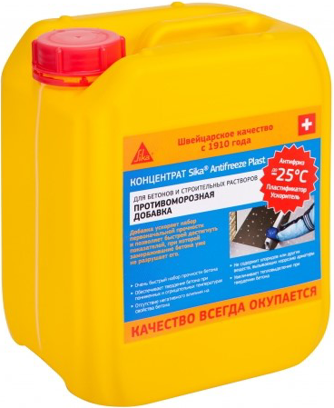 Antifreeze plast противоморозная для бетонов и строительных растворов 1 л